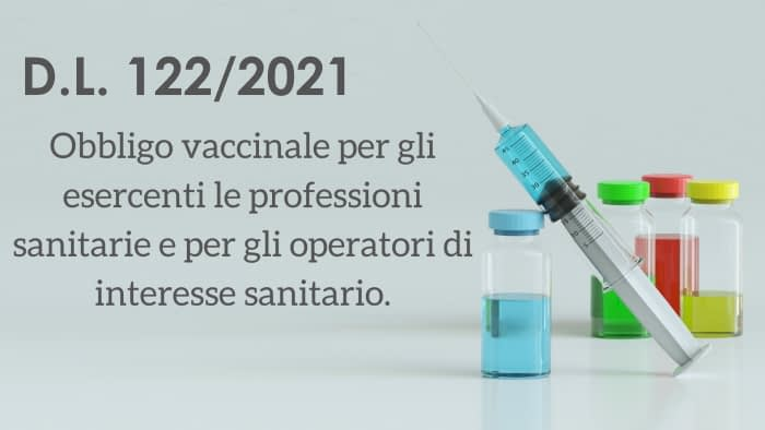Obbligo Vaccinale per il personale: nota informativa